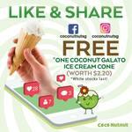 Free Coconut Gelato Ice Cream Cone at Coconutnut (Facebook/Instagram Required) [Chinatown Point]