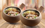 1-For-1 Dried Scallop Porridge with Mushroom and Shredded Chicken ($9.90) at A-One Claypot House via Fave