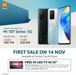 Buy 5G Mi10T($649/$749) and get free Mi LED TV 4S 55'(Worth $559)[Limited to first 25 at Suntec City Mi Store]