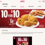 10pcs Chicken (6x Hot & Crispy Tenders/4x Original Recipe or Hot & Crispy) for $10 at KFC