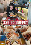 Full Menu Korean Army Strew & Fried Chicken Wing Buffet for $29.90 at Chicken Up (Buangkok)