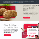Floss Bun for $1 (U.P. $2.10) at BreadTalk [Singtel Rewards]