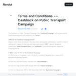 20% Cashback ($10 Capped) on Buses and MRT Rides with Revolut Cards