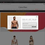 Calvin Klein 12.12 Promotion - Buy 1 Get 12% off, Buy 2 Get 24% off, Buy 5 Get 36% off (Selected Clearance) with Free Shipping