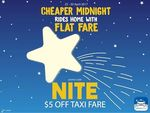 ComfortDelGro - $5 off Taxi Fares (12am to 6am)