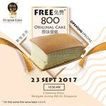 Free 800 Box Original Cake from Original Cake (Westgate, Saturday 23rd September)