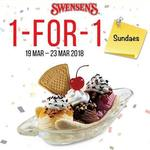 1 for 1 Sundaes at Swensen's via App (Monday 19th to Friday 23rd March)