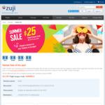 $25 off ($400 Min Spend) Flights at ZUJI