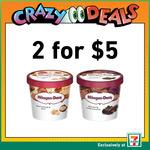 2x Häagen Daz Mini Cups for $5 at 7-Eleven