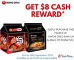 $8 Cash Reward with Nong-Shim  Kimchi Dried + Army Stew Purchase at FairPrice (Facebook Required)