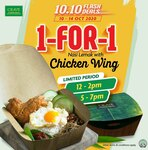 1 for 1 Nasi Lemak with Chicken Wing at CRAVE Nasi Lemak