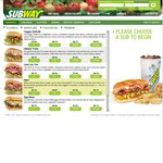 20% off Total Bill at Subway Online (Delivery and Pickup Orders)