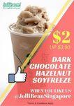 Dark Chocolate Hazelnut Soyfreeze for $2 (U.P. $3.90) at Jollibean (Facebook Required)