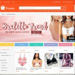 $3 off $10 Minimum Spend on The Bralette Club at Shopee