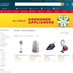 $10 off ($20 Minimum Spend, up to 50% off) Selected Consumer Appliances at Lazada [7pm to 10pm]