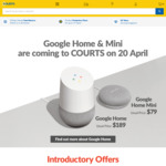 Google Home + Chromecast 2: $132.30 or Google Home + Home Mini + Chromecast  2 + $30 Play Store Gift Card: $187.60 at Courts