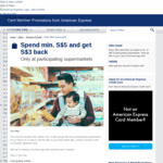 Spend $5 or More & Get $3 Back at Select Supermarkets (e.g. FairPrice, Cold Storage, MEIDI-YA, Giant, etc) via American Express