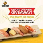 Free: 100 Boxes of Sushi at Genki Sushi (Tampines)