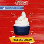 Free Ice Cream from Jollibean (Facebook Required, Selected Outlets, 12pm to 3pm)