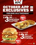 Pancakes Platter for $3.95 from KFC (via App)