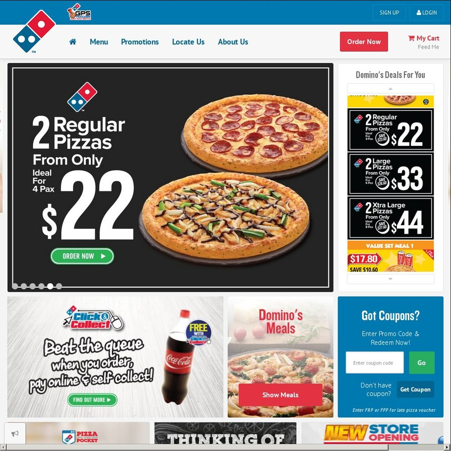 Dominos pizza online order - Regular Pizzas For 9 90 Each At Domino S Pizza Jurong East Outlet Order Online For Dine In Or Take Away Cheapcheaplah