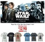 Rogue One Star Wars UT Graphic T-Shirts - Boys Shirts for $12.9 (U.P. $14.9) and Mens Shirts for $14.9 (U.P. $19.9) at UNIQLO