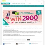 Win 1 of 5 Credits of 2900 Bonus Points from Watsons