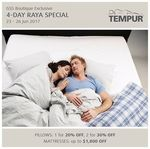 Tempur - 20% Off 1 Pillow, 30% Off 2 Pillows + More at Tempur (23-26 June)