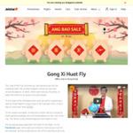 Jetstar New Year Ang Bao Sale 14-26 Jan: 1 Destination on Sale Per Day