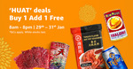 Buy 1, Add 1 Free on 'Huat Deals' at Amazon