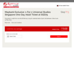 Maybank Exclusive: 1-for-1 Universal Studios Singapore One-Day Adult Ticket at SGD $79