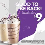 2x Small Ice Blended Drinks for $9 at The Coffee Bean & Tea Leaf (Ngee Ann Polytechnic)