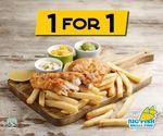 1 for 1 Classic Fish & Chips at Big Fish Small Fish (JCube)