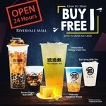 Buy 1 Free 1 on Selected 5 Drinks at The Whale Tea in Rivervale Mall