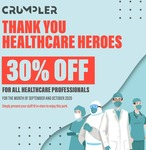 30% off at Crumpler for Healthcare Frontliners