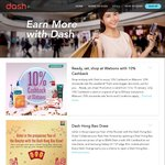 Extra 10% Cashback on Purchases Made at Watsons with Singtel Dash (Combine with 20% off Storewide Member Sale)