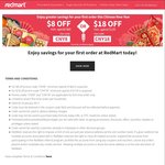 $8 off ($60 Minimum Spend) or $18 off ($120 Minimum Spend) for New Customers at RedMart