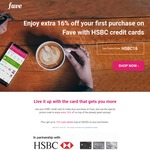 16% off at Fave (Previously Groupon) for New Customers [HSBC Cards]