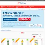 $8 off at FairPrice ($80 Minimum Spend) [Online]