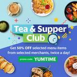 50% off Selected Menu Items at Selected Restaurants via GrabFood