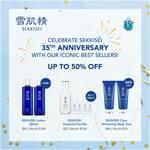 1-for-1 Sekkisei 360ml 2 for $92, 2x Sekkisei Clear Whitening Mask $49 (30% off) @ Kose Dept Store Counters