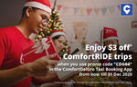 $3 off ComfortRIDE Trips with ComfortDelGro Taxi (Via App)