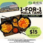 1 for 1 Mala Tang at Yang Guo Fu (3.30-9.30pm Weekdays & All Day Weekends, Espalande Xchange)