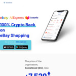 $25 Worth of SG (Crypto) Each New User + 100% Crypto Back eBay up to 500USD for The First 10000 Participants @ SocialGood App