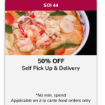 50% off Self Pickup & Delivery at Soi 44 (FavePay Payments)