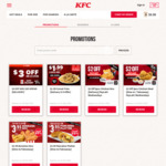 $3 off ($35 Min Spend) at KFC Delivery