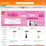 Buy 1 at 20% off or 2+ at 35% off on Selected Skincare Brands at Guardian