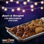 5x Free Wings or Boneless for All Paying Customers after 10.30pm at Wing Zone (Buangkok)