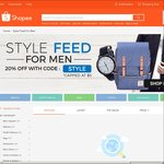 20% off Items in The Style Feed for Men Category at Shopee
