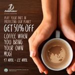 50% off Coffee at Delifrance (Bring Your Own Mug)